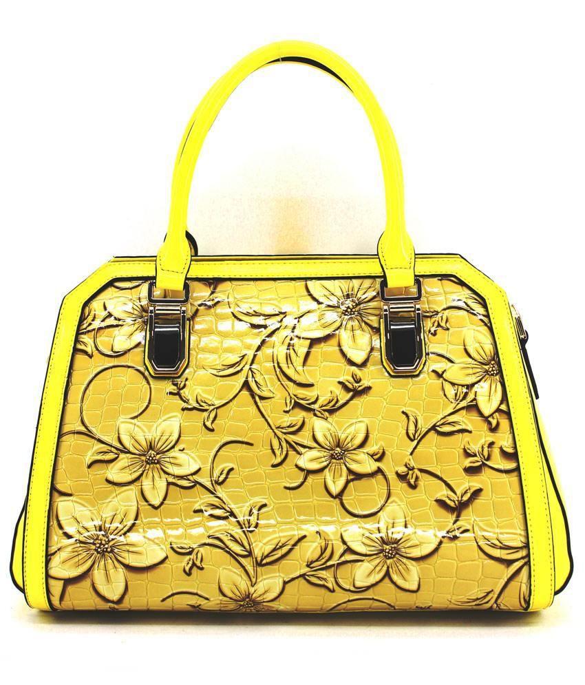 Bubolly Yellow Ladies Hand Bag (145)