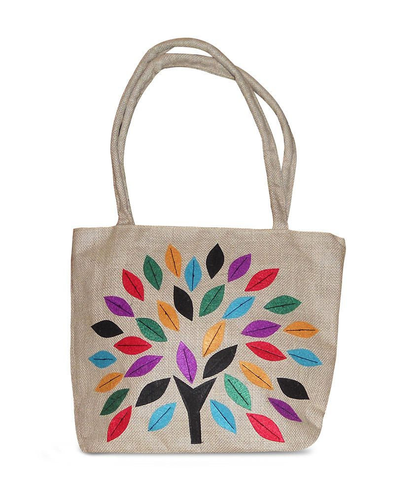 Lovely Collection Beige Beautifull Jute Bag