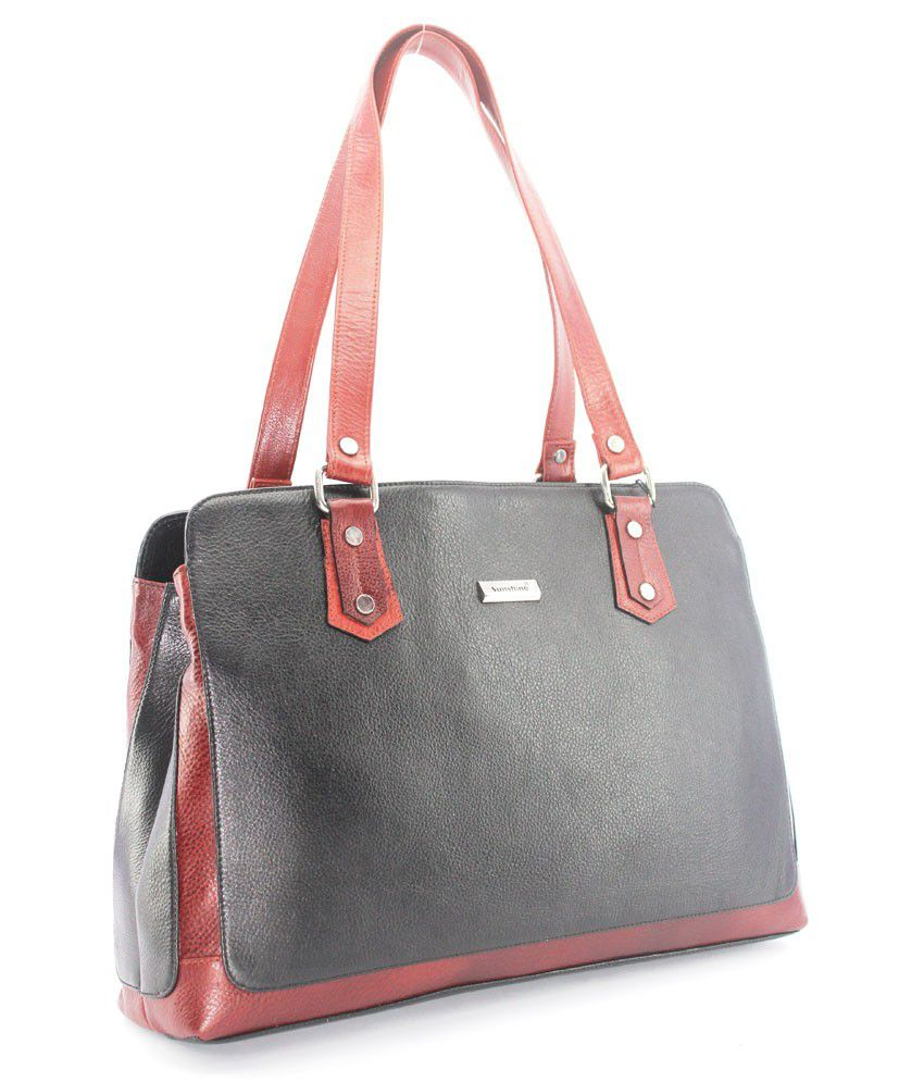 010d00cdbdfa Sunshine Leather Black   Brown Ladies Hand Bag (134) - Buy Sunshine Leather  Black   Brown Ladies Hand Bag (134) Online at Best Prices in India on  Snapdeal
