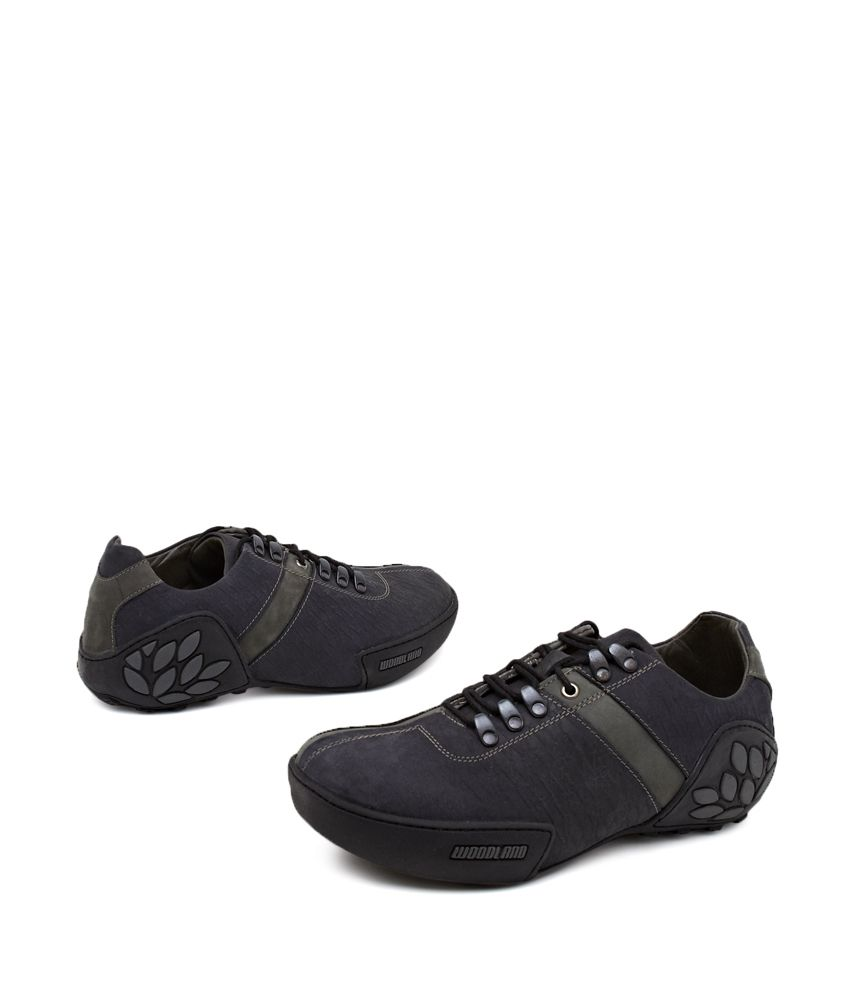 Woodland Black Shoes Price