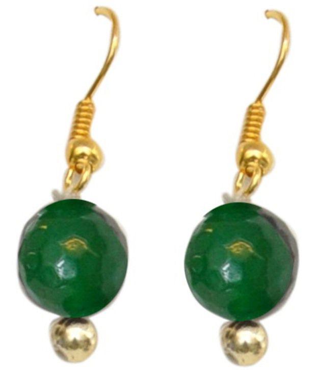 Classique Designer Jewellery Stunning Green  amp; Golden Drop Earrings