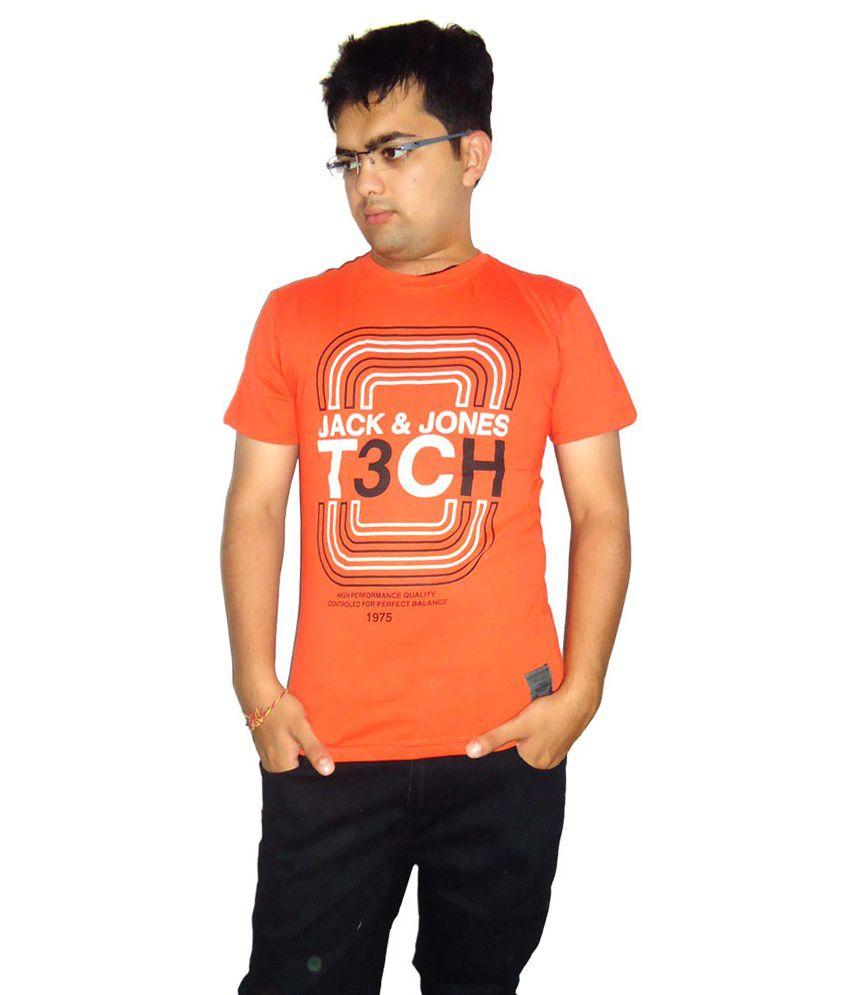 Jack&jones Roundneck Tshirt Orange