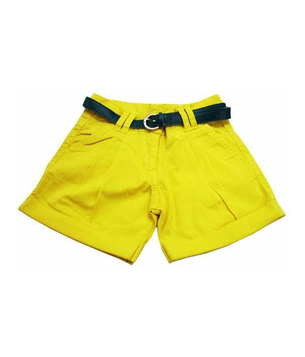 Catapult Girl's Yellow Shorts