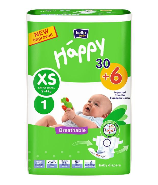Bella Baby Diapers Extra Small A30 + 6: Buy Bella Baby