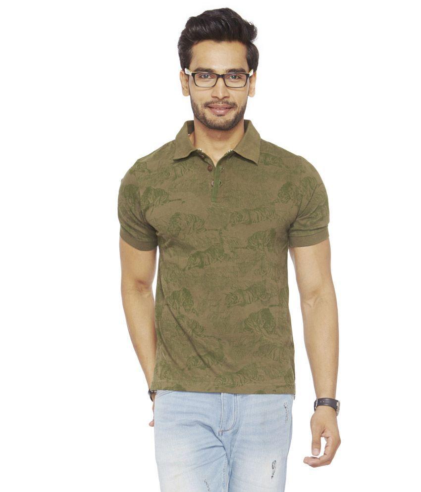 Do U Speak Green Green Cotton Stripers Half Sleeves T-shirt For Men