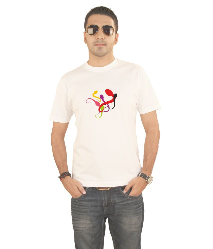 Hung Shoe Novelty Gene Men's White T-shirt