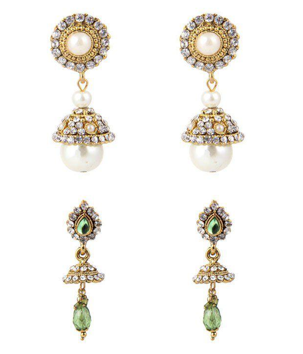 Jewelizer Ethnic Earrings Combo Jfec10071