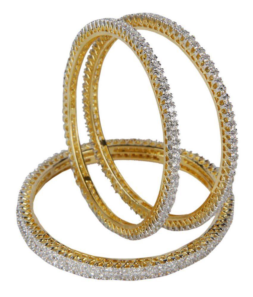 Aakarshan Elegant American Diamond Bangles