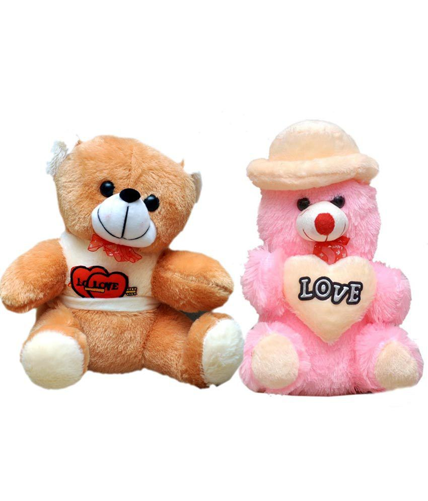 Soft Toys Product : Madhav product soft toy love teddy bear and set of