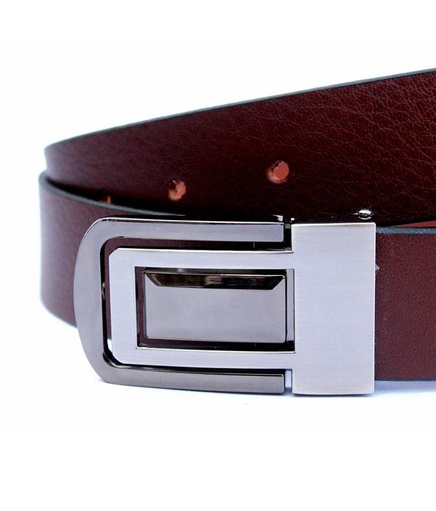 Tops Brown Formal Single Belt ForMen