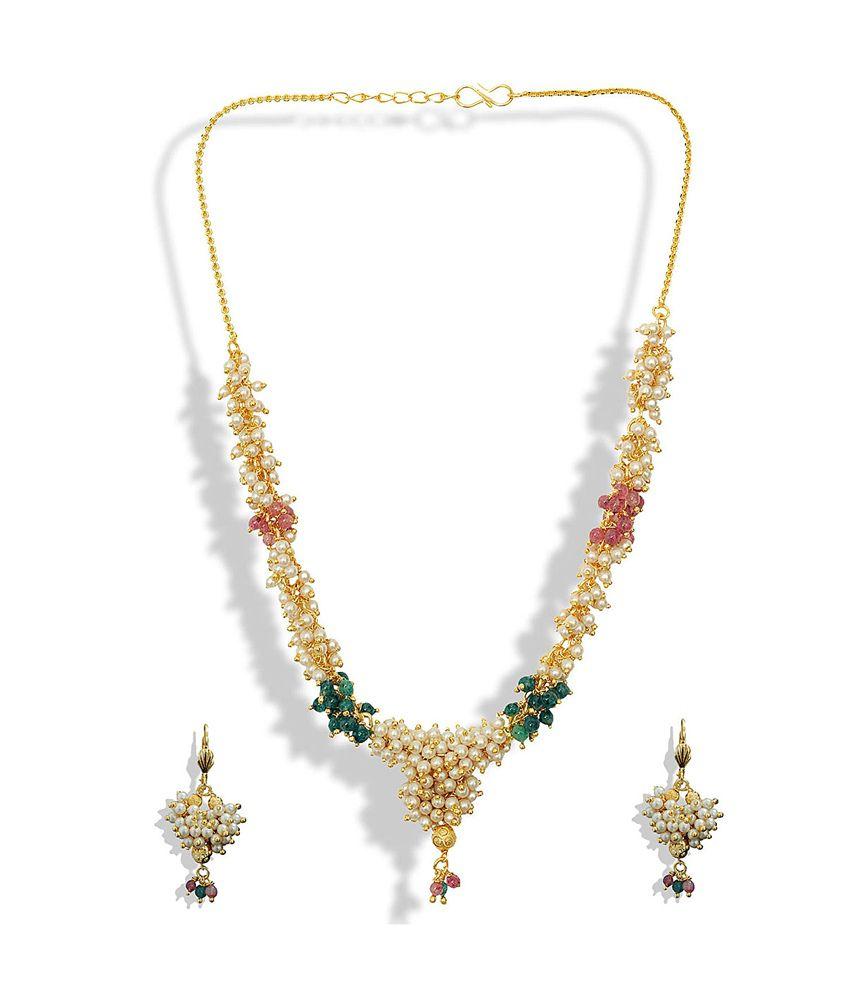 Womens Trendz Antik Moti Haar Necklace Set
