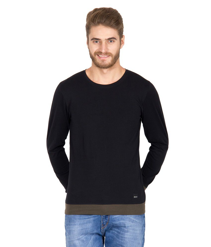 Rigo Black Cotton T-shirt