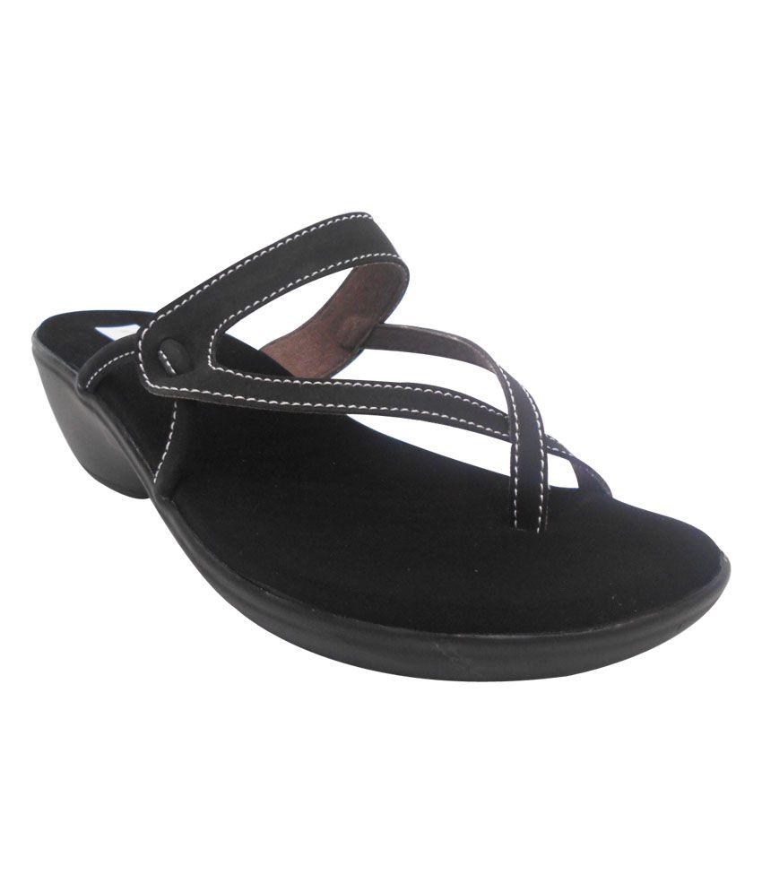Zedds Black Comfort Wedges