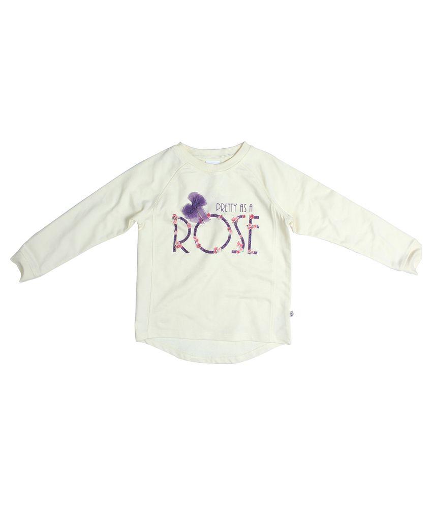 Fs Mini Klub Long Sleeves Off White Color Round Neck Sweatshirt For Kids