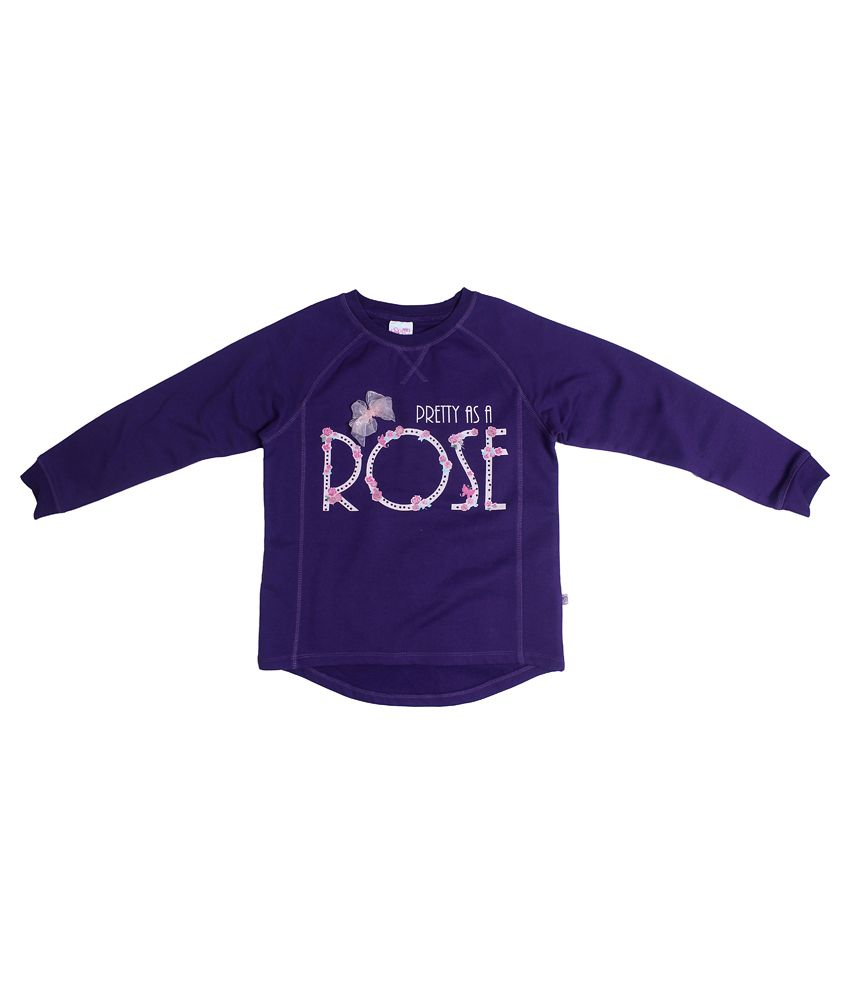 Fs Mini Klub Long Sleeves Violet Color Round Neck Sweatshirt For Kids