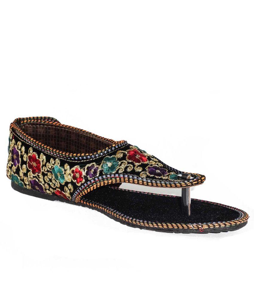 Jaipur Ebazaar Multicolor Faux Leather Round Toe Sandals