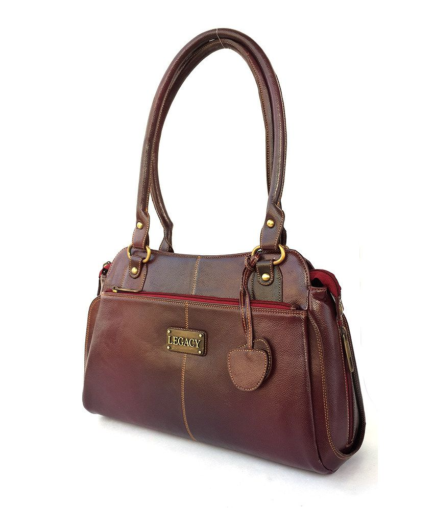 Sv Maroon Fashinable Handbag For Women