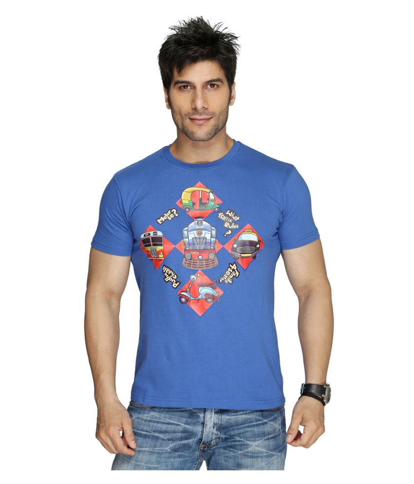 Imagica Blue Cotton T-shirt