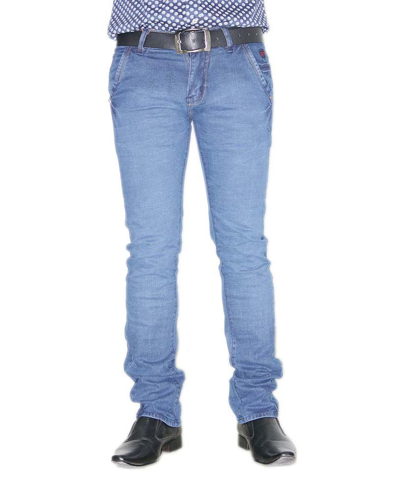 Cuboid Navy Blue Slim Fit Jeans
