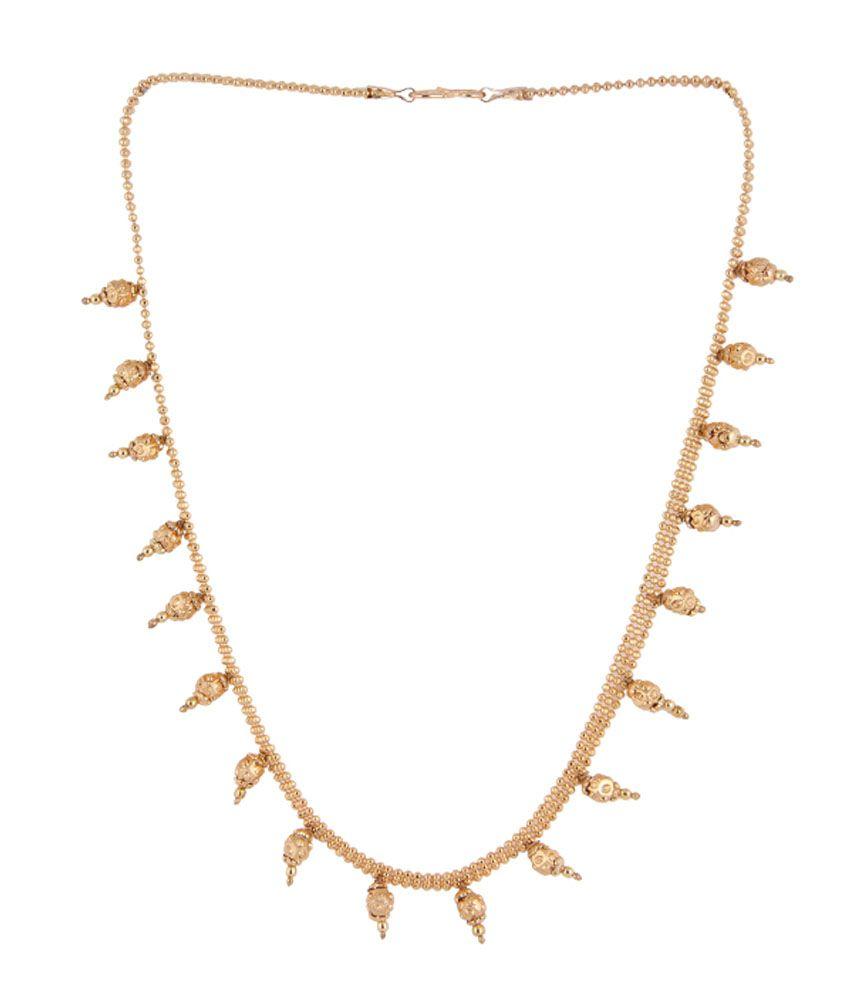 Itzmyfashion Antique Alloy Traditional Golden Necklace