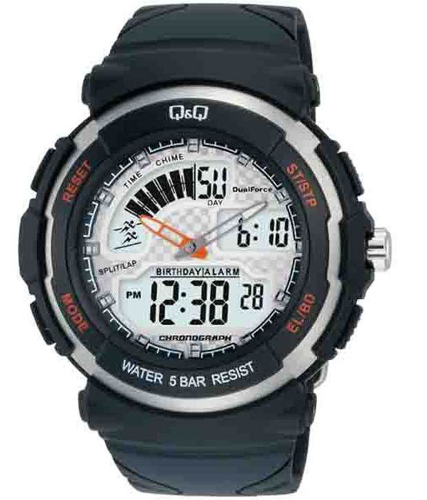 Q&q White Digital Watch For Men