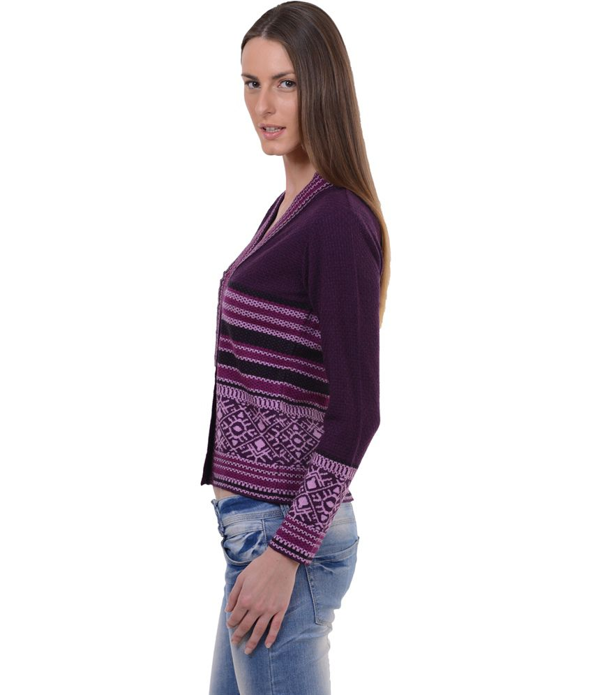 Sportking Aubergine Color Sweater For Women Sportking Aubergine Color  Sweater For Women ...
