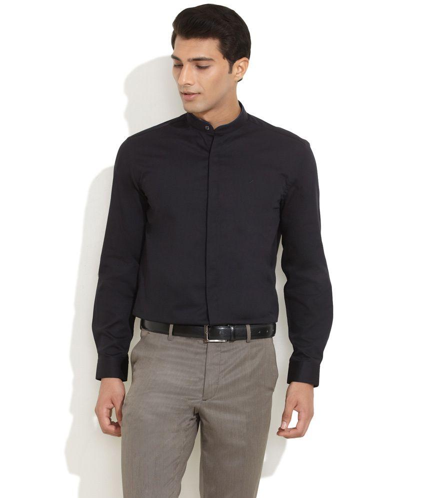 best cheap 906d3 7aa84 Daniel Hechter Black Mr. International Mandarin Collar Shirt ...