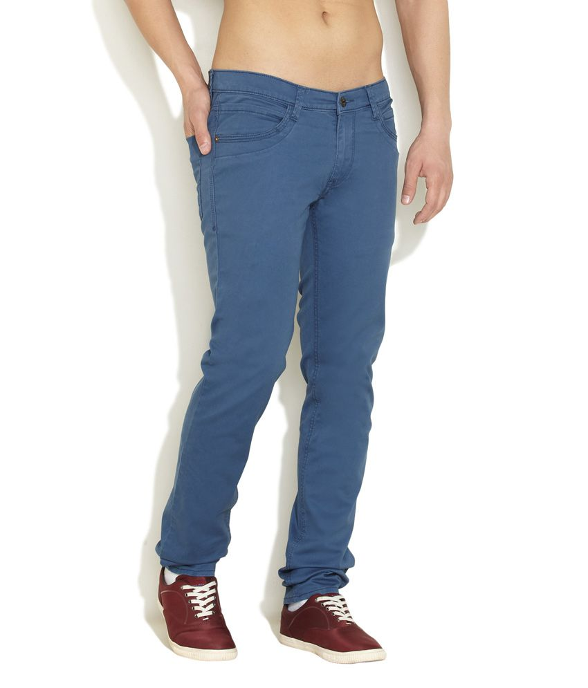 Lee Dark Blue Simply Cool Trousers