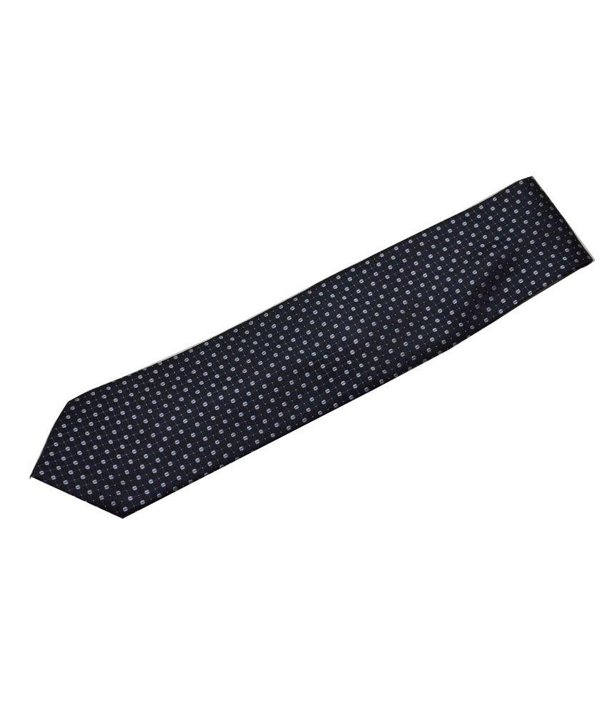 Sakshi International Black Geometric Dots Printed Tie