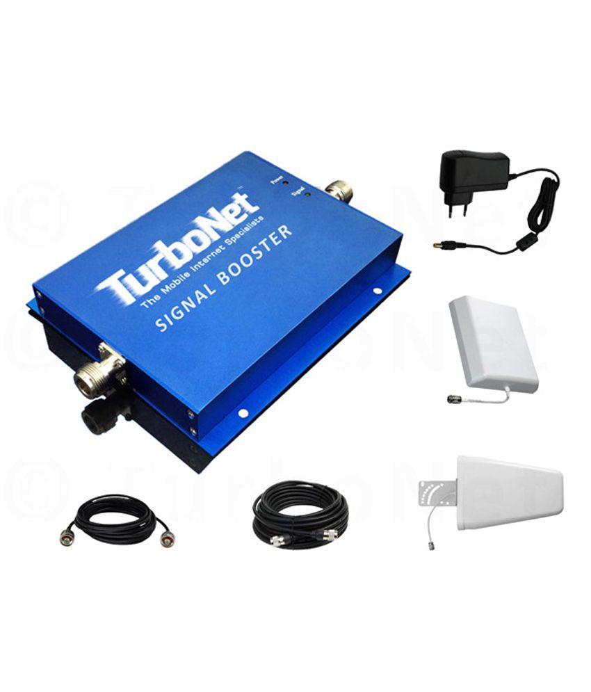 Turbonet 2G Single Band 1800 Mhz Mobile Signal Booster Kit Coverage Of 500 Sqm (R13A-D)