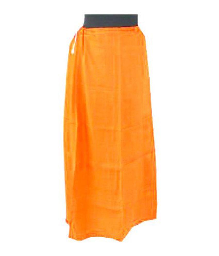 Rkp Orange Cotton Petticoat