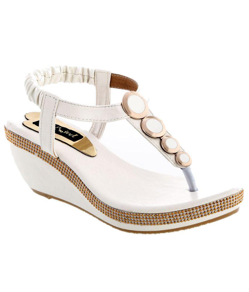 Catbird White Wedges Sandals