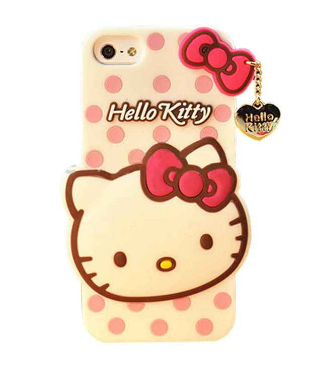 e6c1a0584 Go Crazzy Hello Kitty Silicone With Pendant Soft Silicone Back Case Cover  For Iphone 6 Plus 5.5 Inch - White - Mobile Cover Combos Online at Low  Prices ...