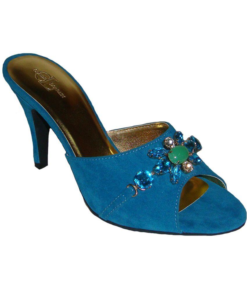 Claude Lorrain Blue Medium Heel Slip-on
