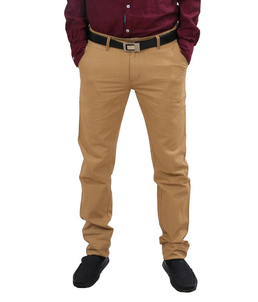 92295ee3435 Indiweaves Khaki Cotton Semi Formal Trouser - Buy Indiweaves Khaki Cotton Semi  Formal Trouser Online at Low Price in India - Snapdeal