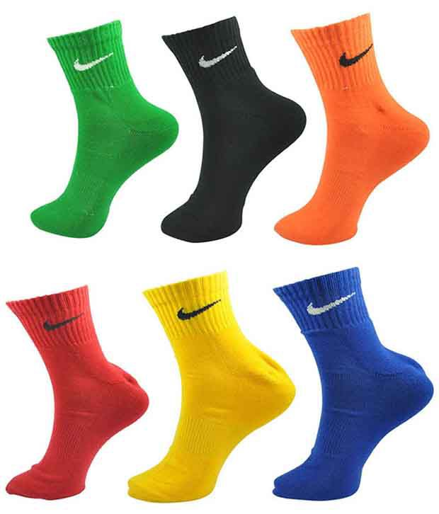 Nike Multi Casual Ankle Length Socks Men 5 Pair Pack
