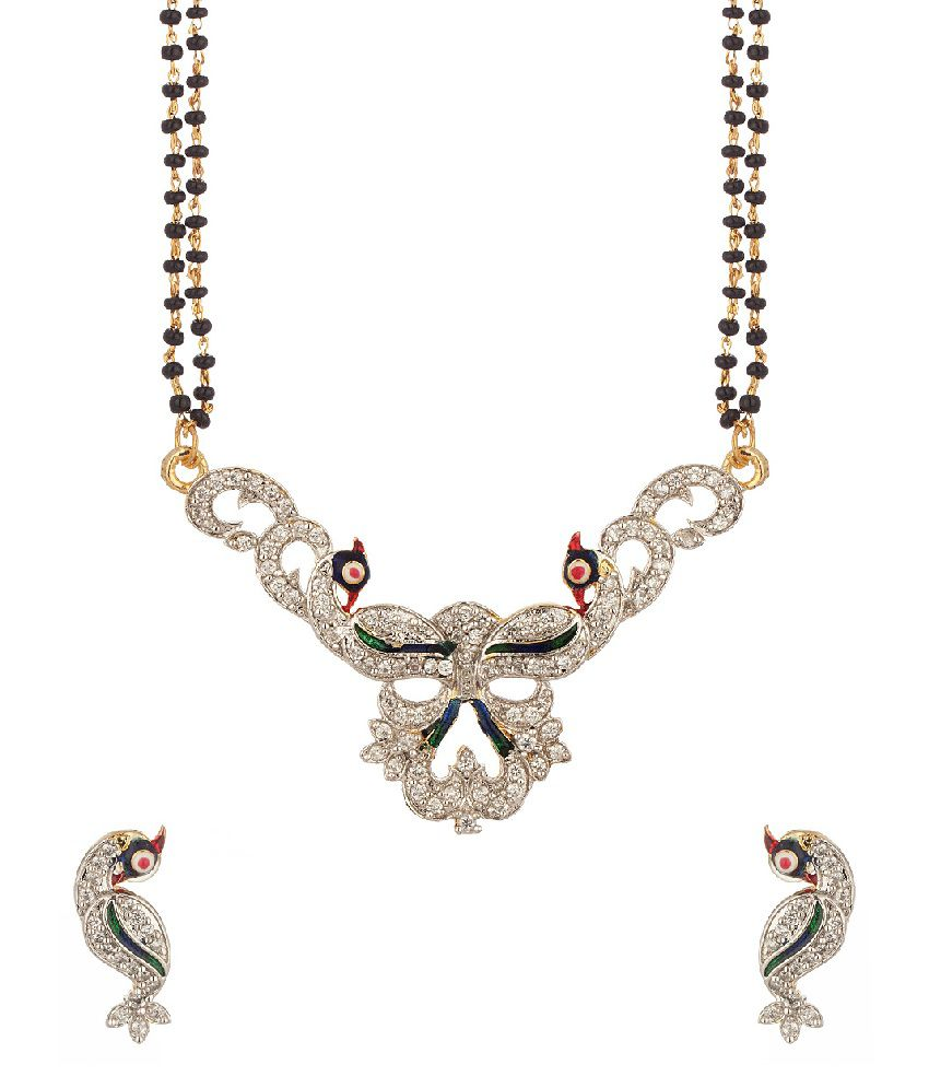 Voylla Single Chain Mangalsutra Featuring Peacock Motif