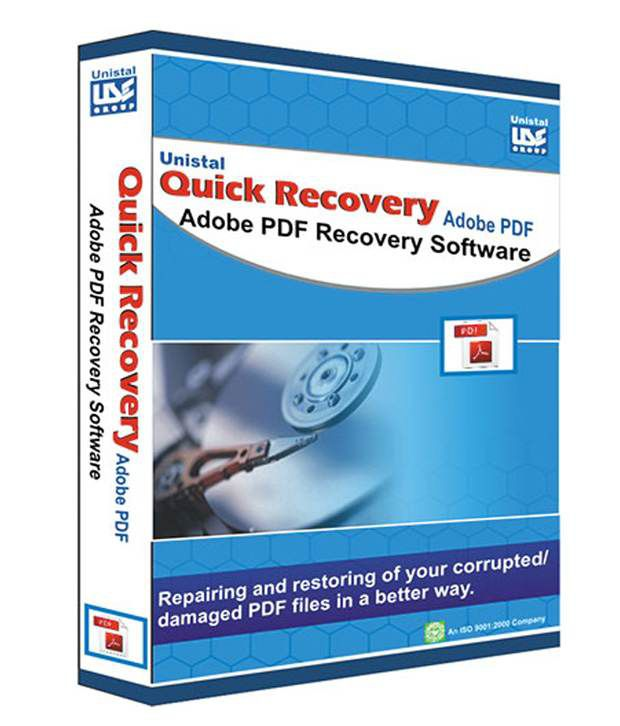 Unistal Adobe Pdf Data Recovery Software ( CD )