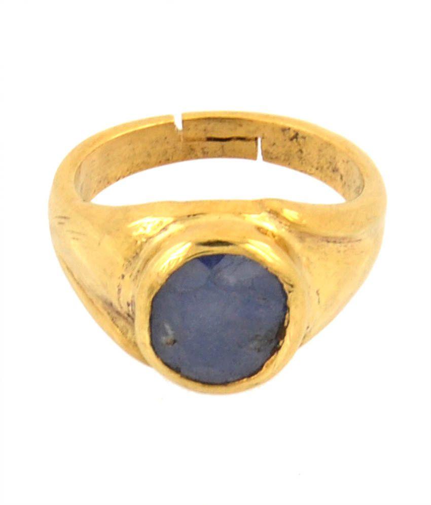 Avaatar 4.25 Ratti Blue Sapphire Neelam 5 Dhatu Adjustable Ring