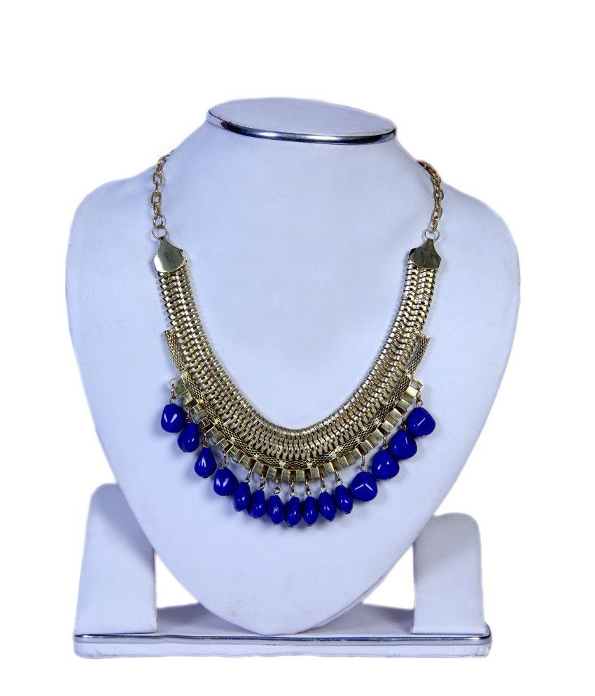 Kcil Blue Contemporary Designer Necklace