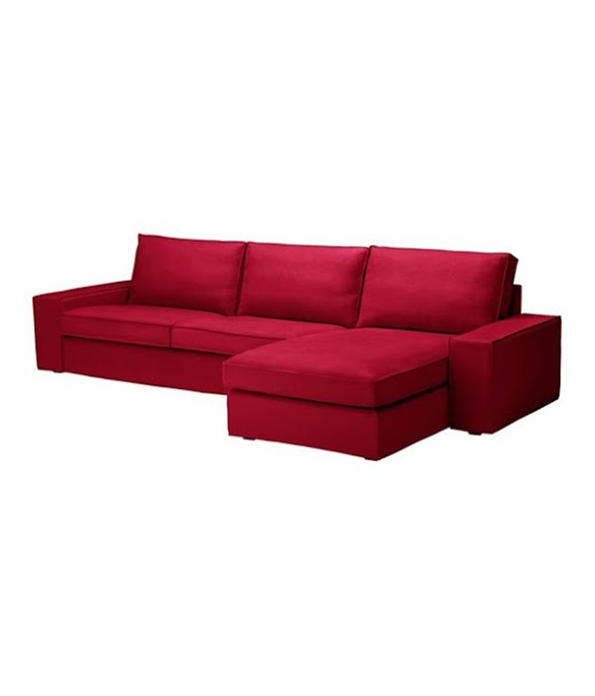 Cubel Canis 3 Seater Luxury Sectional Sofa Burgundy