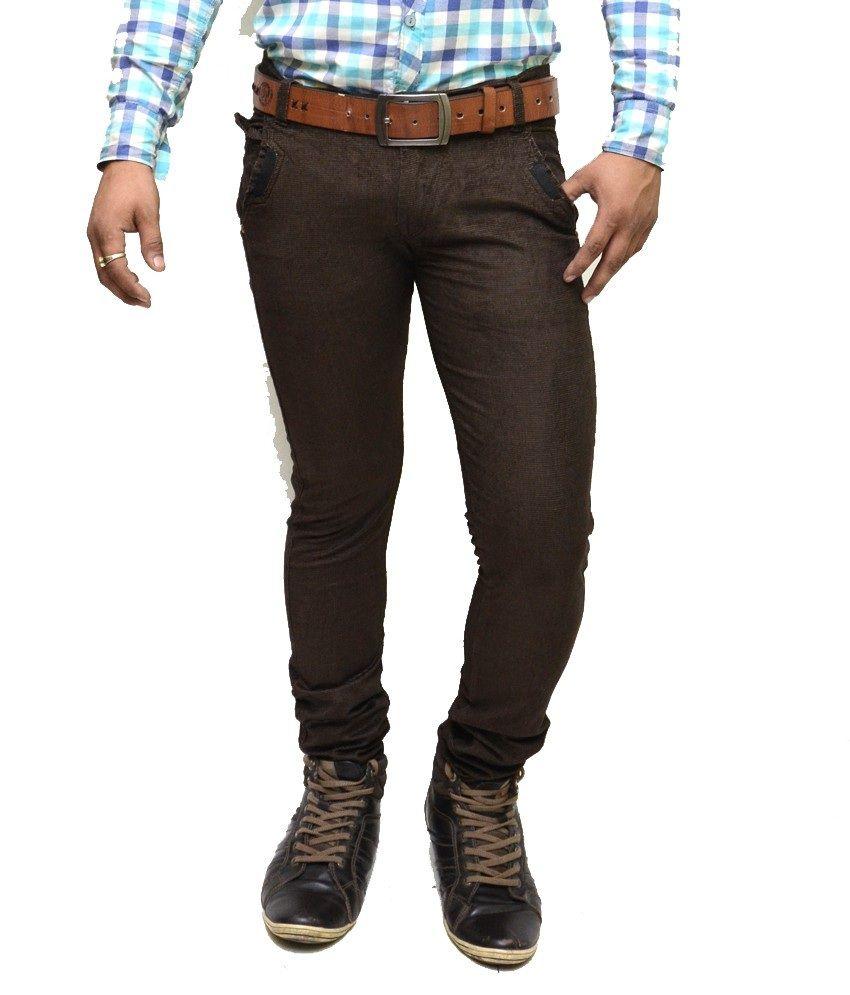 Nation Mania Brown Cotton Trouser