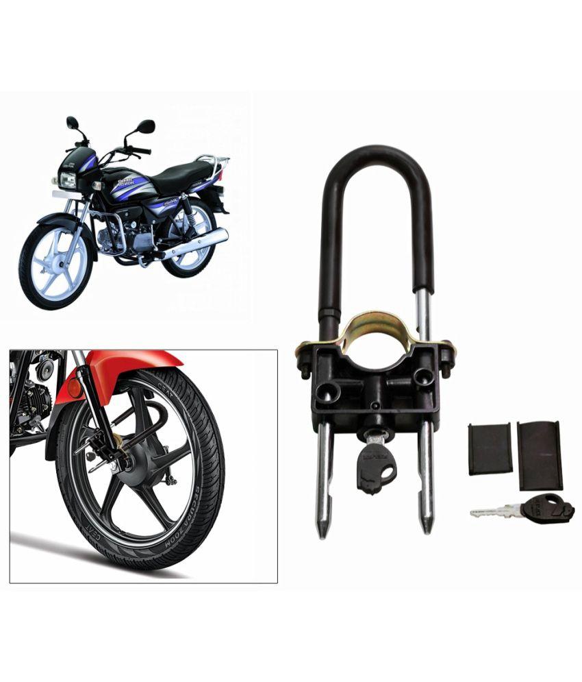 relax universal bike front wheel lock for hero motocorp