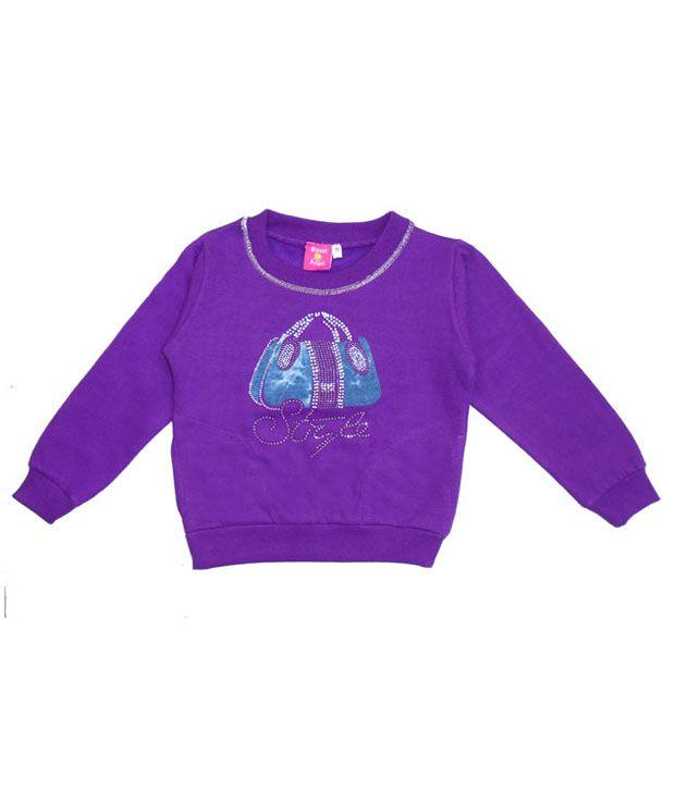Sweet Angel Trendy Purple Sweatshirt For Girls
