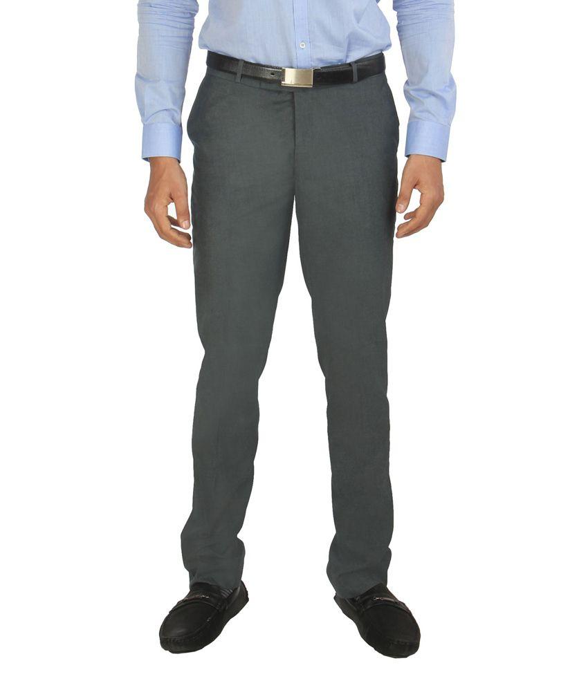 Zido Blue Formal Slim Fit Trouser for Men_ZI14020_BLUE_30
