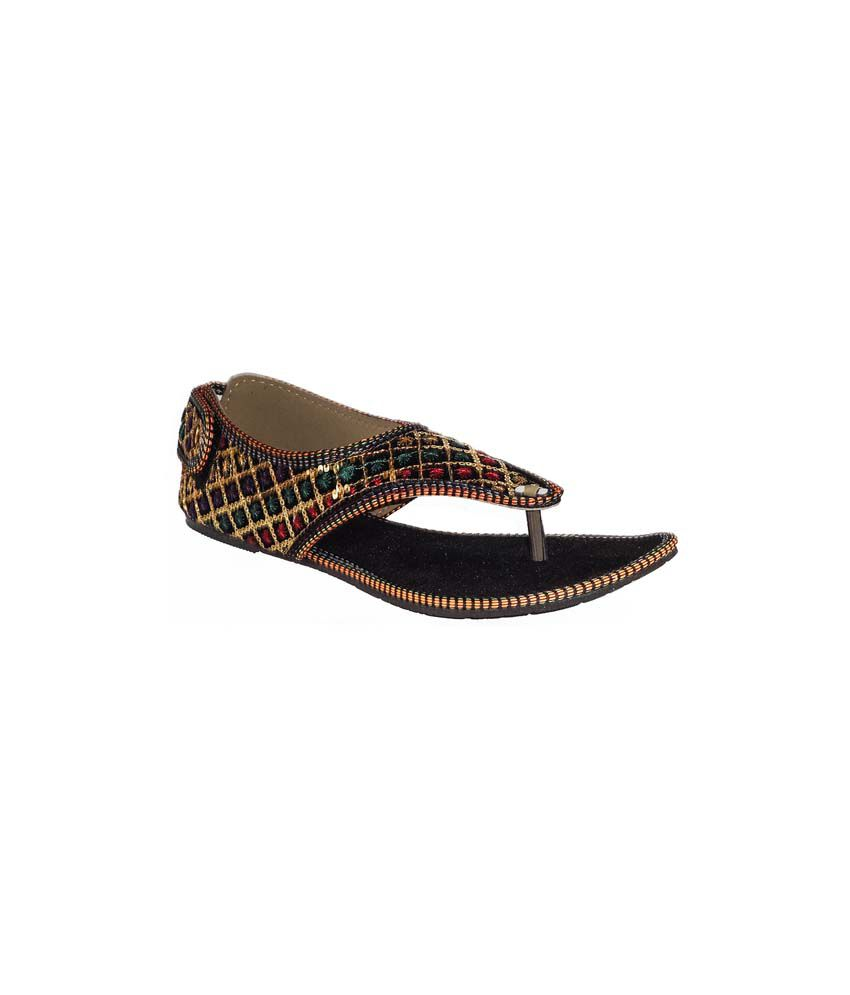 Jaipur Ebazaar Multicolor Faux Leather Sandal