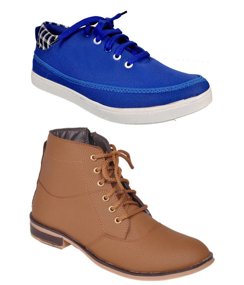 Kool Jones Multicolor Synthetic Leather Designer Boots