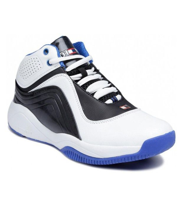 Navyfont White And Blue Synthetic Leather Running Shoes