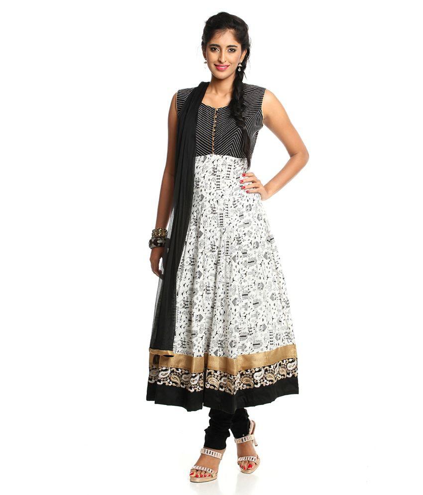 6855637189 Soch White Cotton Anarkali Salwar Suit - Buy Soch White Cotton Anarkali  Salwar Suit Online at Low Price - Snapdeal.com