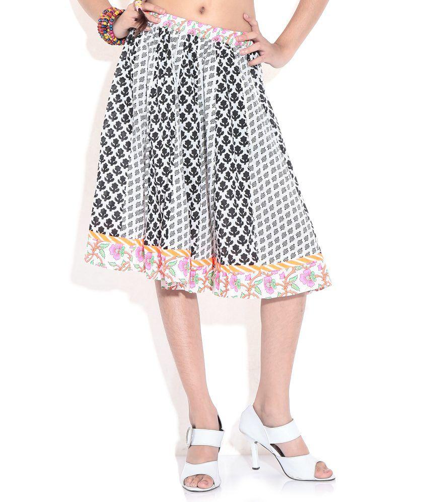 BIBA White Color Skirt For Kids